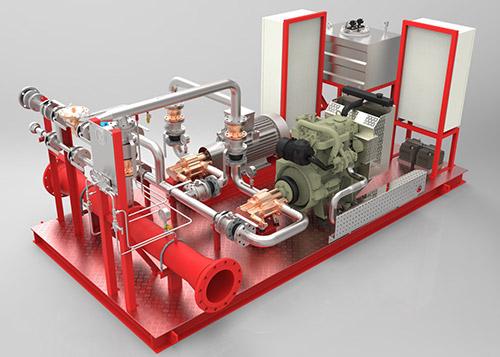 Pumpe za doziranje pjenila za stabilni sustav